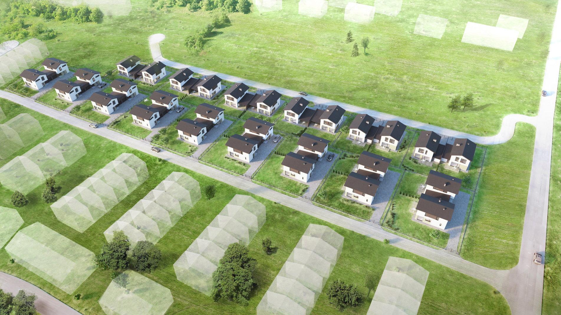 parduodami nauji namai